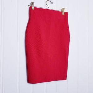 Chocolate u.s.a. Red Scuba Pencil Skirt